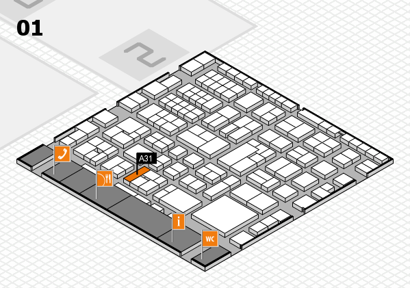 EuroShop 2017 hall map (Hall 1): stand A31