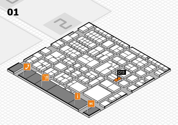 EuroShop 2017 hall map (Hall 1): stand D13