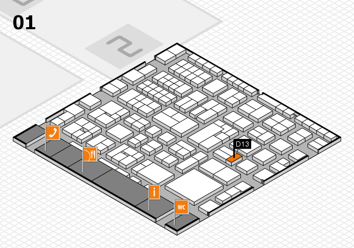 EuroShop 2017 hall map (Hall 1): stand D13