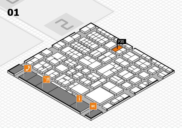 EuroShop 2017 hall map (Hall 1): stand F35