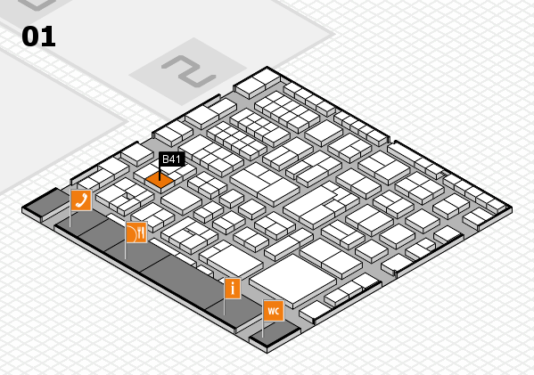 EuroShop 2017 hall map (Hall 1): stand B41