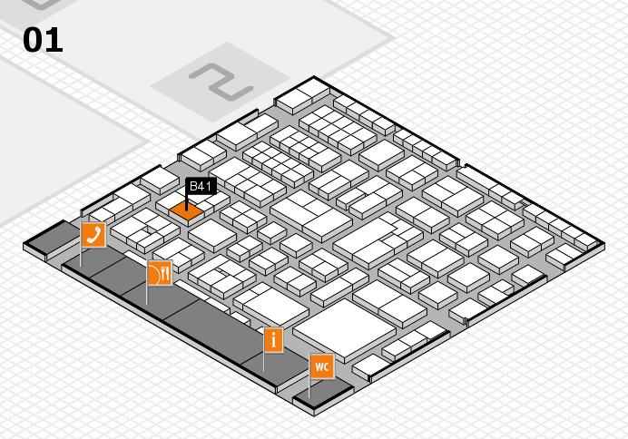 EuroShop 2017 hall map (Hall 1): stand B41