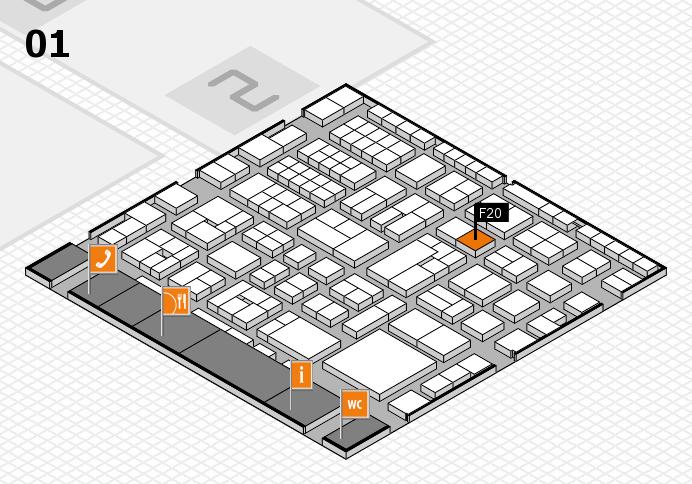 EuroShop 2017 hall map (Hall 1): stand F20
