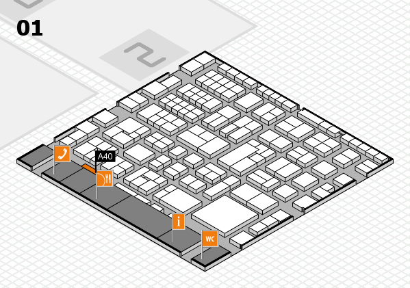 EuroShop 2017 hall map (Hall 1): stand A40