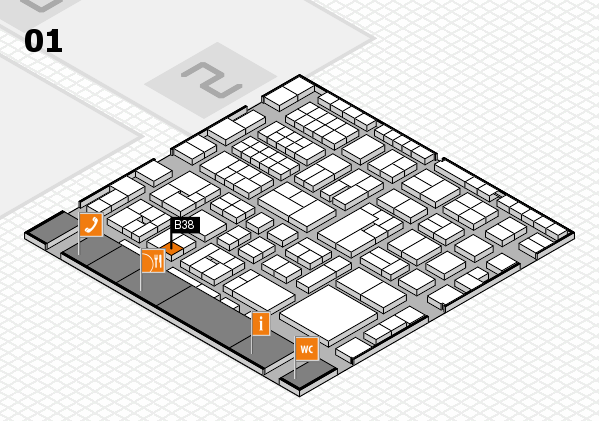 EuroShop 2017 hall map (Hall 1): stand B38