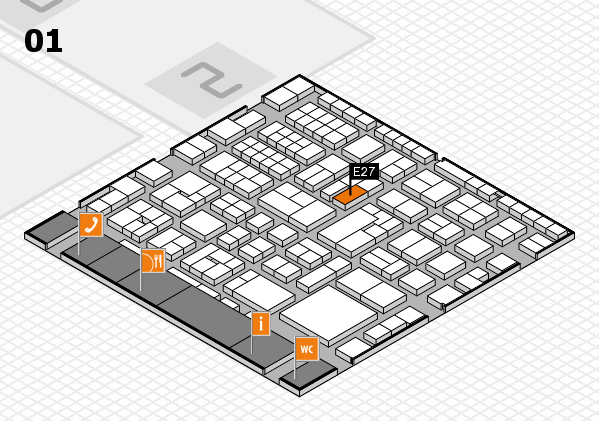 EuroShop 2017 hall map (Hall 1): stand E27