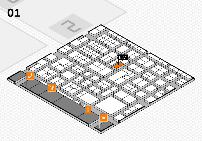 EuroShop 2017 hall map (Hall 1): stand E27