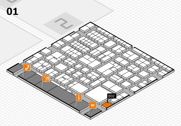 EuroShop 2017 hall map (Hall 1): stand B02