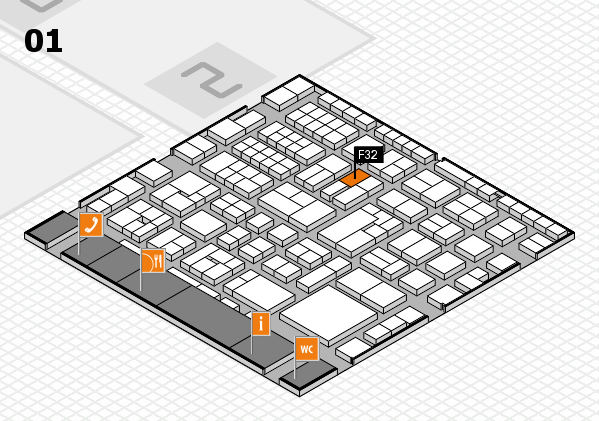 EuroShop 2017 hall map (Hall 1): stand F32