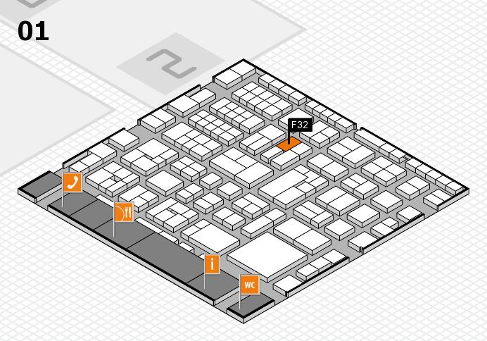 EuroShop 2017 hall map (Hall 1): stand F32
