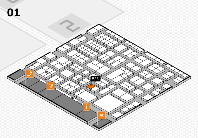 EuroShop 2017 hall map (Hall 1): stand B23