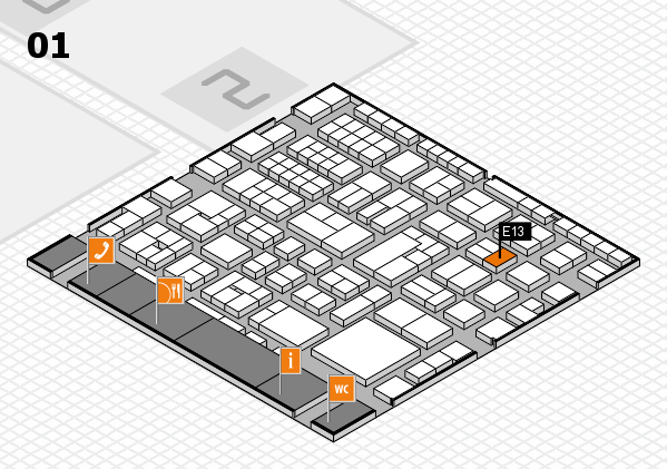 EuroShop 2017 hall map (Hall 1): stand E13