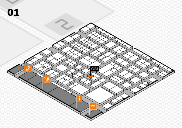 EuroShop 2017 hall map (Hall 1): stand C23
