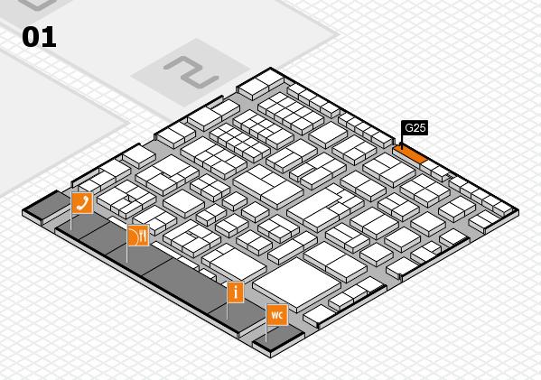 EuroShop 2017 hall map (Hall 1): stand G25