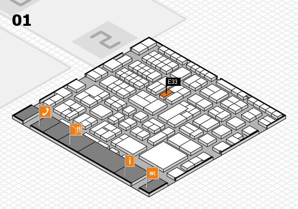 EuroShop 2017 hall map (Hall 1): stand E33