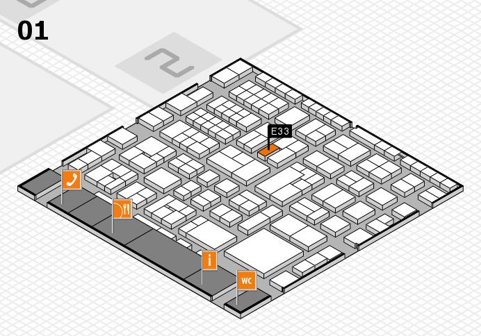 EuroShop 2017 hall map (Hall 1): stand E33