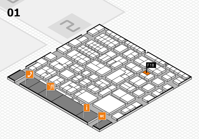EuroShop 2017 hall map (Hall 1): stand F18