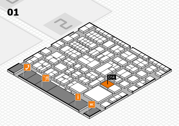 EuroShop 2017 hall map (Hall 1): stand D14
