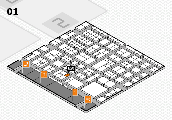 EuroShop 2017 hall map (Hall 1): stand B28