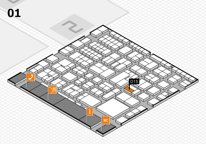 EuroShop 2017 hall map (Hall 1): stand D15