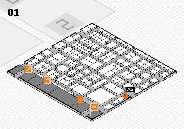 EuroShop 2017 hall map (Hall 1): stand D02