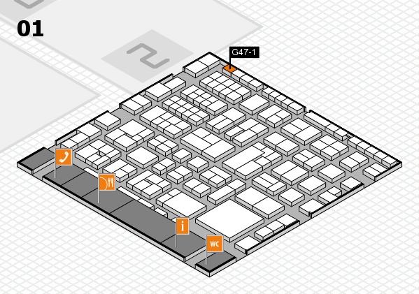 EuroShop 2017 hall map (Hall 1): stand G47-1