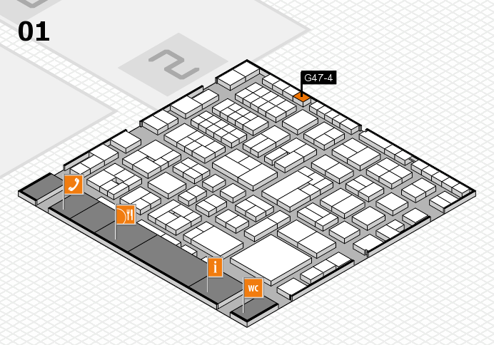 EuroShop 2017 hall map (Hall 1): stand G47-4