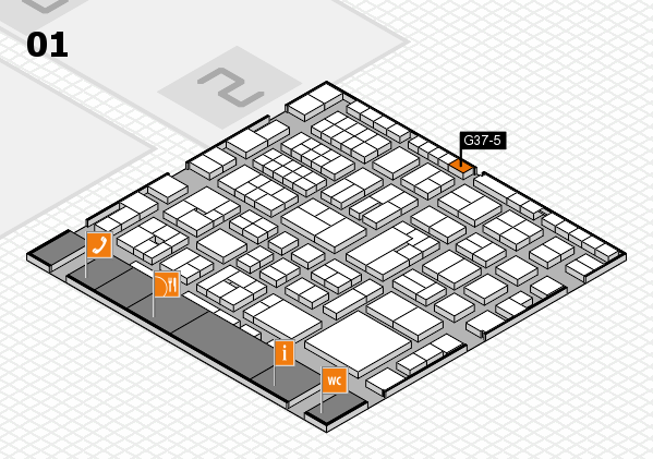 EuroShop 2017 hall map (Hall 1): stand G37-5