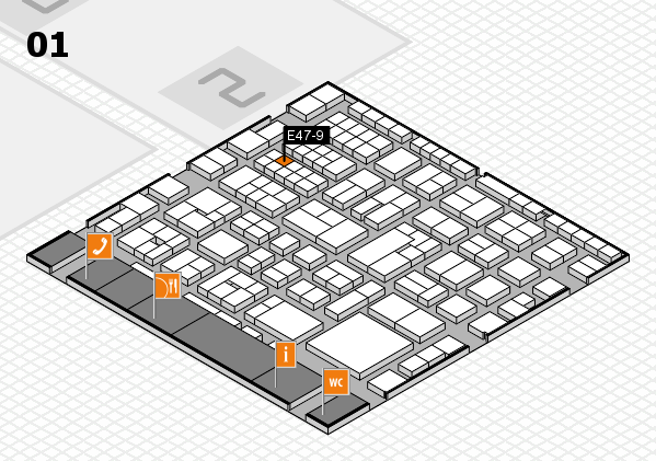 EuroShop 2017 hall map (Hall 1): stand E47-9