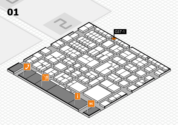 EuroShop 2017 hall map (Hall 1): stand G37-1