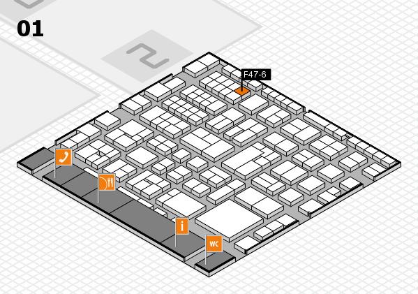 EuroShop 2017 hall map (Hall 1): stand F47-6