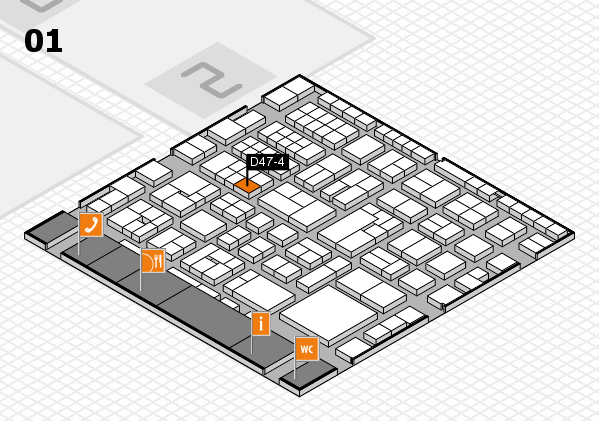 EuroShop 2017 hall map (Hall 1): stand D47-4