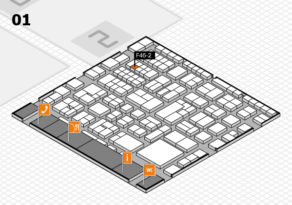 EuroShop 2017 hall map (Hall 1): stand F46-2