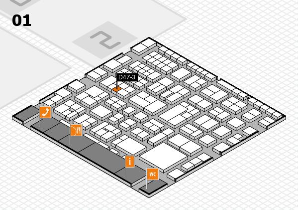 EuroShop 2017 hall map (Hall 1): stand D47-3