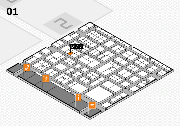 EuroShop 2017 hall map (Hall 1): stand D47-3