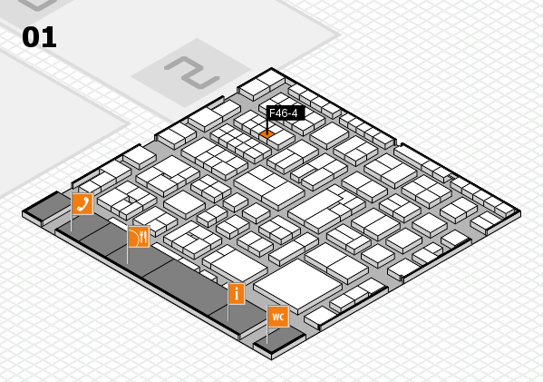 EuroShop 2017 hall map (Hall 1): stand F46-4