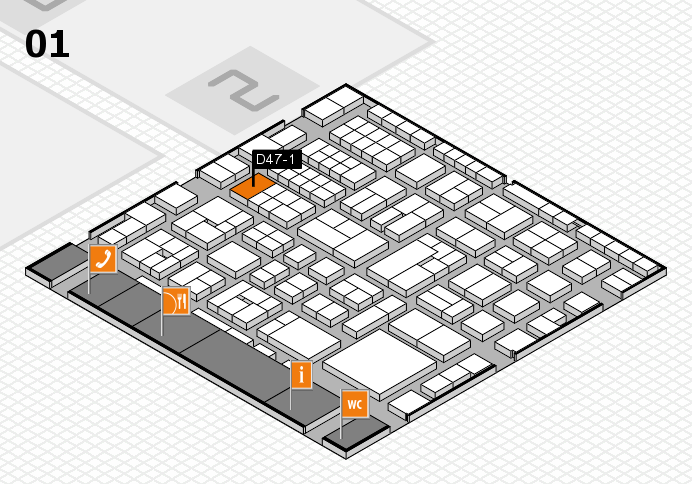 EuroShop 2017 hall map (Hall 1): stand D47-1