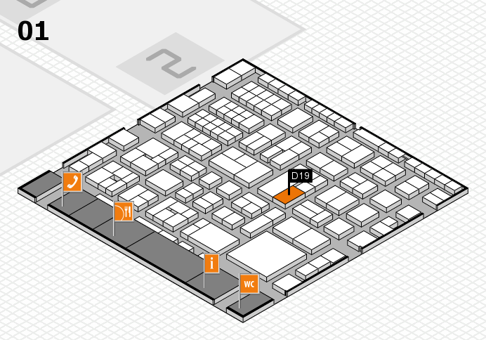 EuroShop 2017 hall map (Hall 1): stand D19