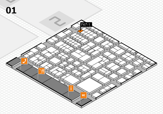 EuroShop 2017 hall map (Hall 1): stand F47-1