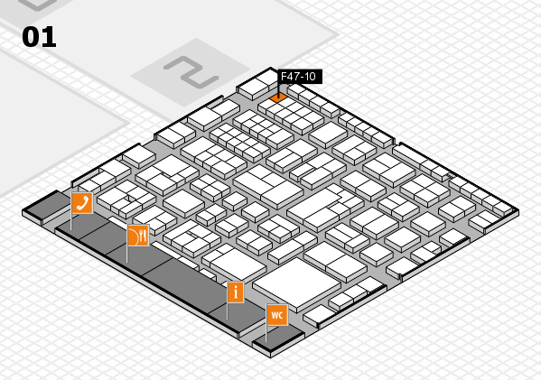 EuroShop 2017 hall map (Hall 1): stand F47-10