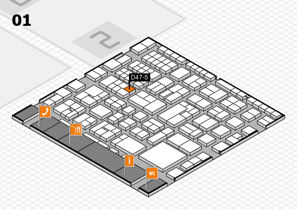 EuroShop 2017 hall map (Hall 1): stand D47-5