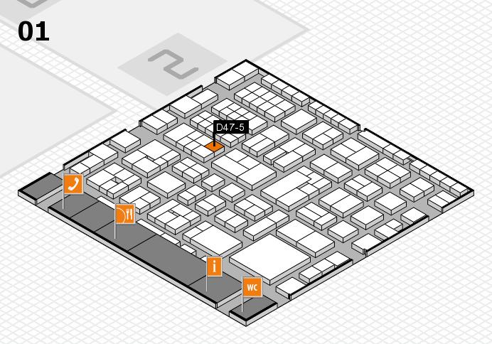 EuroShop 2017 hall map (Hall 1): stand D47-5