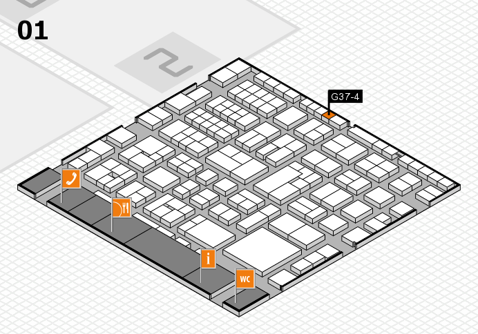 EuroShop 2017 hall map (Hall 1): stand G37-4