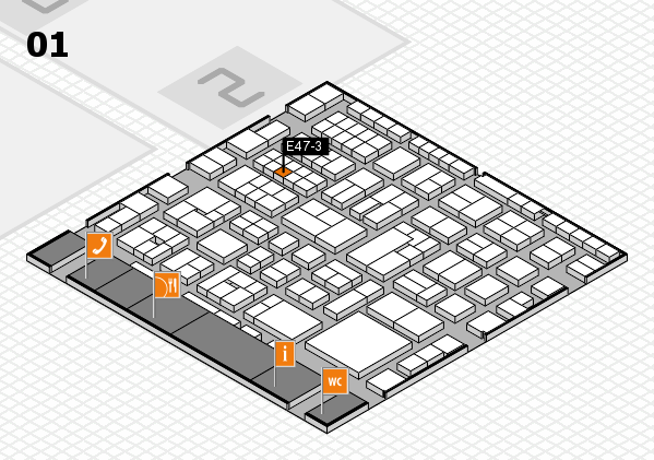 EuroShop 2017 hall map (Hall 1): stand E47-3