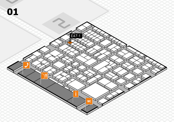 EuroShop 2017 hall map (Hall 1): stand E47-1