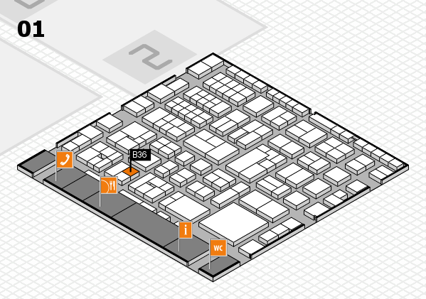 EuroShop 2017 hall map (Hall 1): stand B36