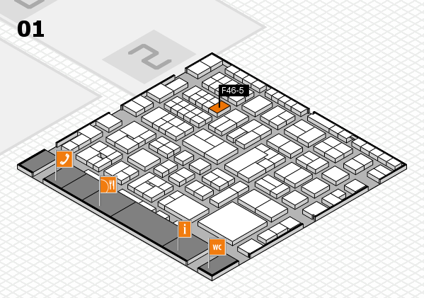 EuroShop 2017 hall map (Hall 1): stand F46-5