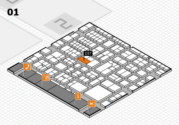 EuroShop 2017 hall map (Hall 1): stand D37
