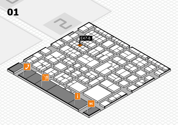 EuroShop 2017 hall map (Hall 1): stand E47-8