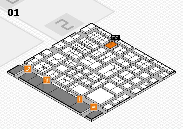 EuroShop 2017 hall map (Hall 1): stand F37